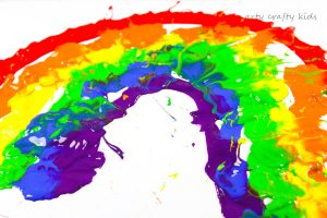 Arty Crafty Kids | Art Art Ideas for Kids | Straw Blowing Rainbow Art | Straw blowing to make rainbow art is a fun and creative process your kids with LOVE!