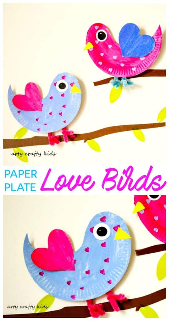 Paper Plate Love Birds Arty Crafty Kids
