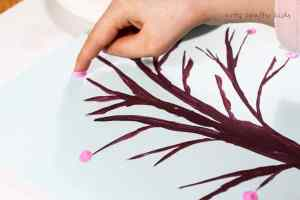 Arty Crafty Kids | Art | Spring Crafts for Kids | Finger Print Spring Blossom Tree
