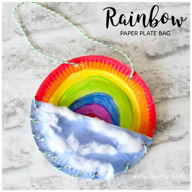 Arty Crafty Kids | Book Club | Craft Ideas for Kids | Rainbow Paper Plate Bag
