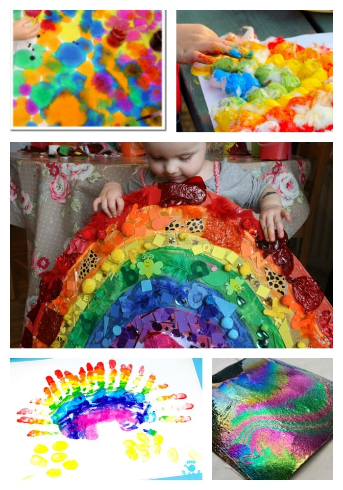 Arty Crafty Kids | Art | 20 Rainbow Kids Art Projects | 20 beautiful rainbow art ideas for kids. - perfect for some st .patricks or Spring themed art for kids.