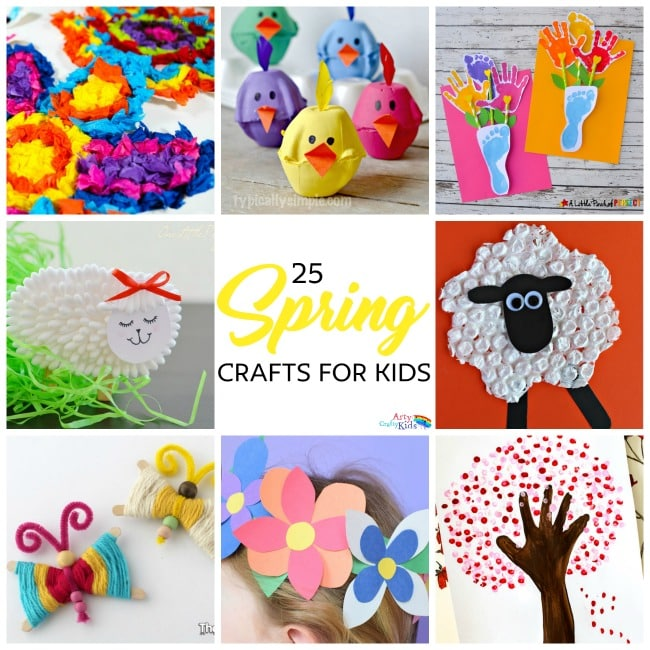 Easy Spring Crafts For Kids Arty Crafty Kids