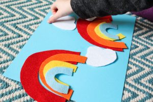 Arty Crafty Kids   Play   Toddler Rainbow Activity   Toddlers will have fun creating pictures and building their own simple rainbows. A great little colour identification and sequencing activity for toddlers.