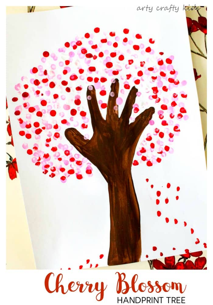 cherry blossom handprint tree