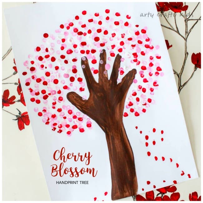 Arty Crafty Kids   Art   Cherry Blossom Handprint Tree