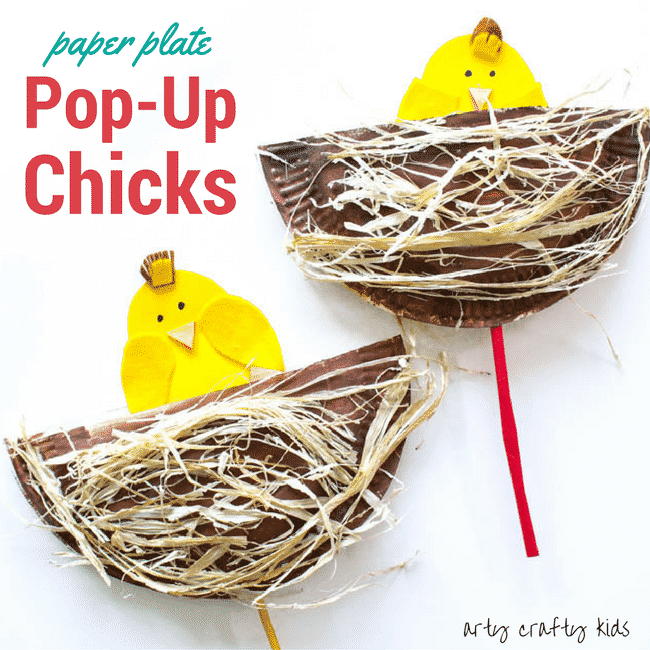 Arty Crafty Kids | Craft | Easter Crafts for Kids | Pop Up Paper Plate Chicks