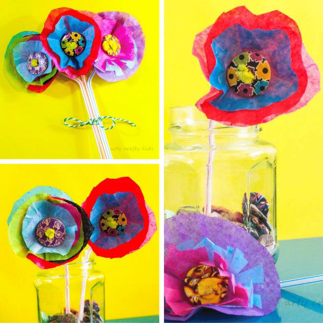 3d tissue paper flower arty crafty kids mightylinksfo