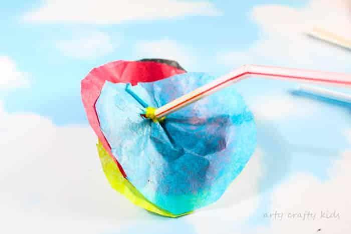 Arty Crafty Kids | Craft | Spring Crafts for Kids | Craft | 3D Tissue Paper Flower | An easy Flower Craft for Kids