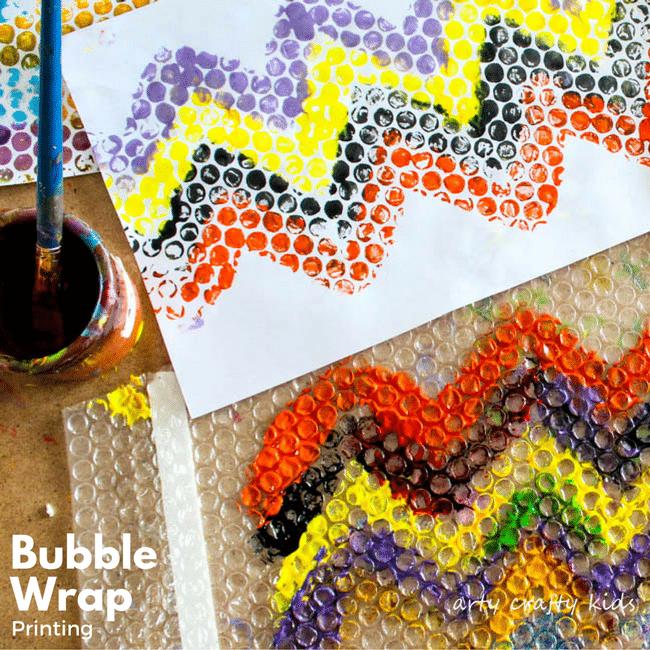 Bubble Wrap Printing Arty Crafty Kids