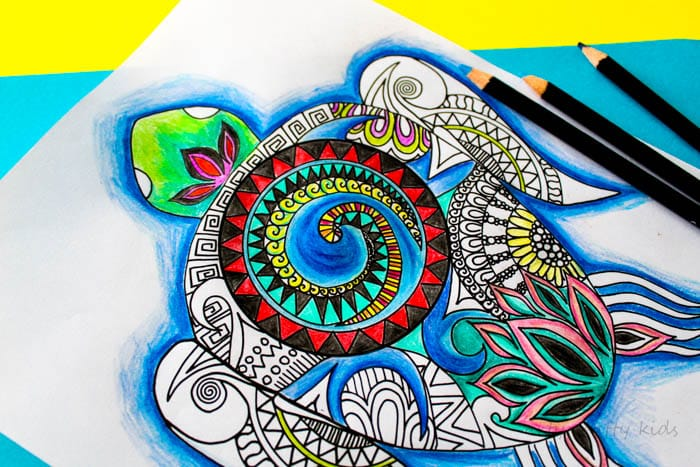 Moana Inspired Turtle Coloring Page Arty Crafty Kids