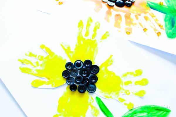 Arty Crafty Kids   Art   Easy Handprint Sunflower Craft   A super cute sunflower handprint craft for kids!