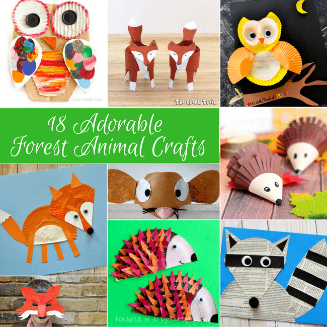 Adorable Forest Animal Crafts