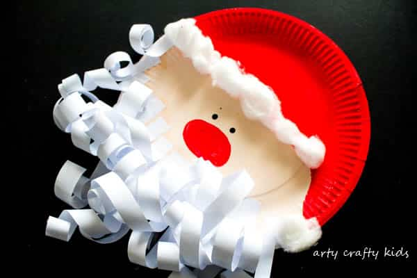 Arty Crafty Kids | Craft | Paper Plate Santa Claus | A super fun and easy Christmas paper plate Santa craft for kids.