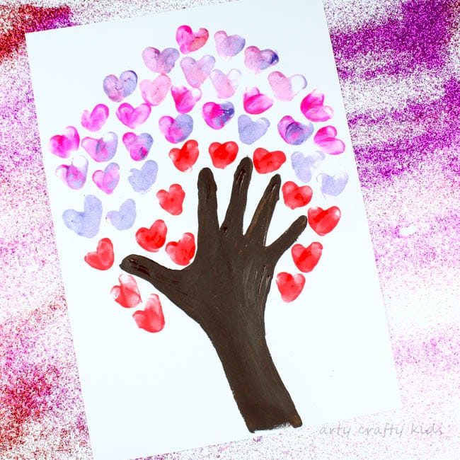 fingerprint heart valentines day tree - arty crafty kids, Ideas