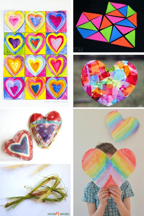 Arty Crafty Kids | Art for Kids | Valentines Heart Art Projects for kids #valentinesday #hearts #kidsart