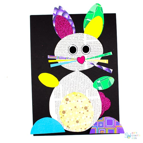 Happy hoppy paper bunny craft arty crafty kids for Easter crafts for elementary students