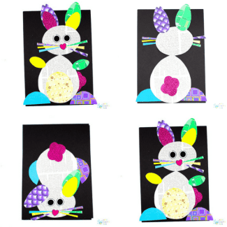 happy hoppy paper bunny craft - Pictures For Kids