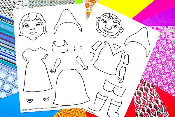 Arty Crafty Kids   Art ideas for Kids   Sherlock Gnomes Pop Art - a fun and creative pop art idea for kids, featuring the characters of #sherlockgnomes #sponsored #kidsart #freetemplate