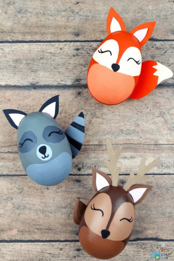 Arty Crafty Kids | Easter Crafts for Kids | Woodland Animal Easter Egg Craft