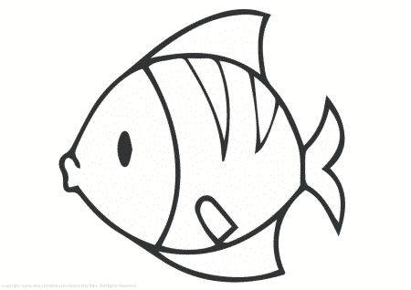 Fish 1 Outline Arty Crafty Kids