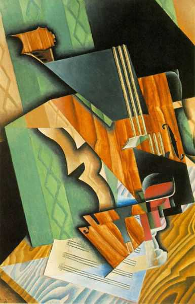 'Violin and Glass', 1915 (oil on canvas)