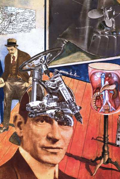 Raoul Hausmann - Tatlin at Home, 1920