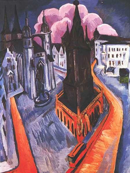 Ernst Ludwig Kirchner - The Red Tower at Halle, 1915