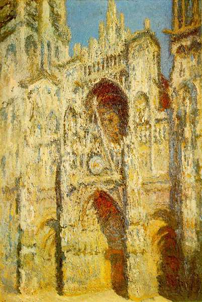 Claude Monet - Rouen Cathedral - in full sunlight 1893