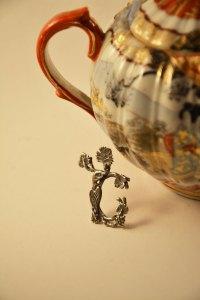 Armenian Handmade Sterling Silver Pendant Letter sh
