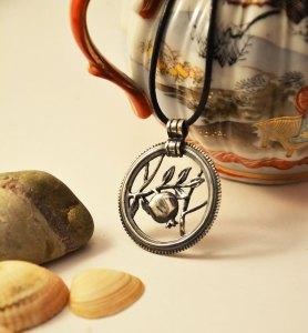 Armenian Handmade Silver Pendant Pomegranate on jar