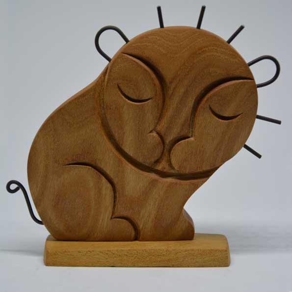 Handmade Wooden Lion