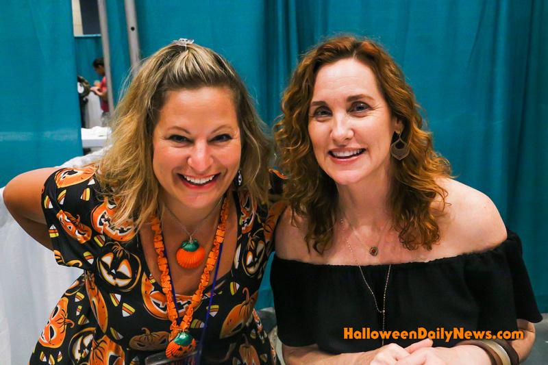 HDN's Sue Artz with Judith Hoag ('Halloweentown')