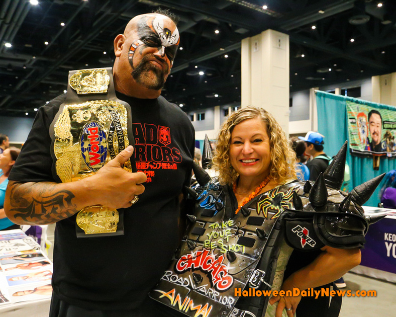 Animal (The Road Warriors) with HDN's Sue Artz