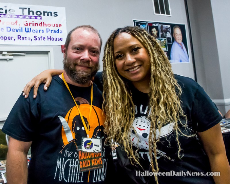 HDN's Matt Artz with Tracie Thoms