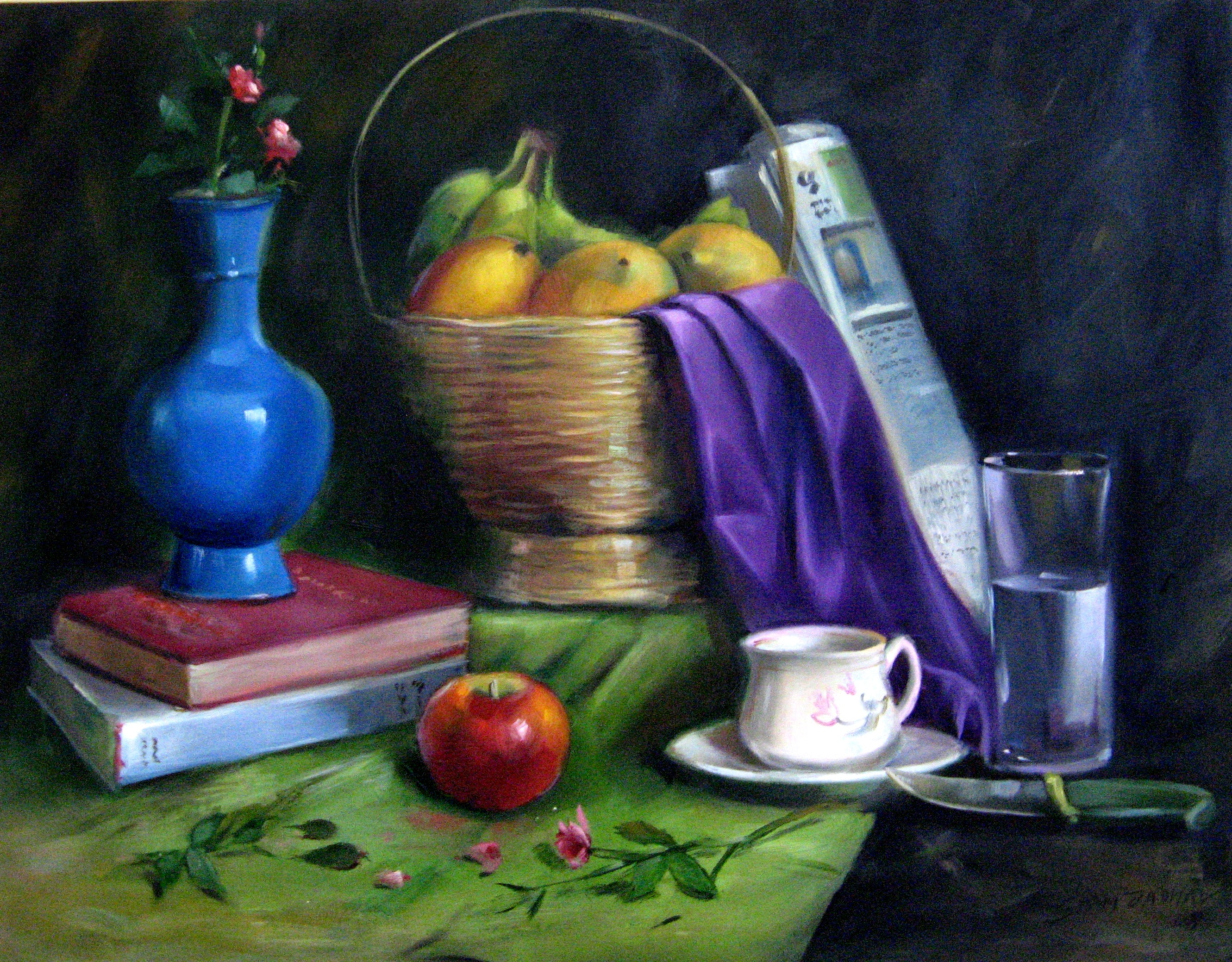BUY STILL LIFE PAINTINGS ONLINE FRUIT BASKET