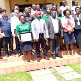 African Rural University is awarded a Certificate of Appreciation in recognition for her contribution to Revenue Generation in the financial year ending 2018-2019.