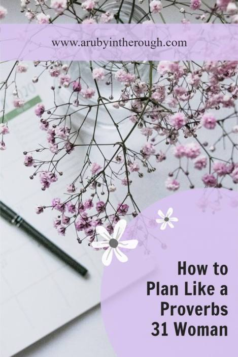 Notebook pin on how to plan like a Proverbs 31 woman