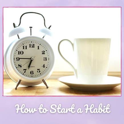 How to start habits illustrated by alarm clock and coffee cup