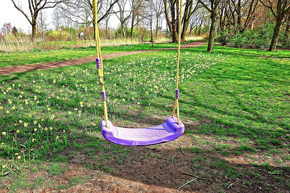 Purple swing for exercise