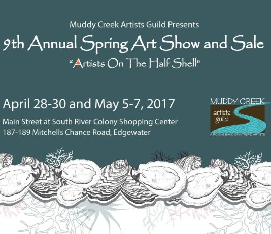 A poster of Muddy Creek Artist Guild is holding their annual Spring Art Show and Sale beginning this weekend and next.