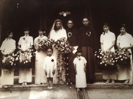 The wedding photo from 1933 of my mother, Barbara Schuchard and my father, Dau-Lin Hsu that my mother hid for 50 years. Photo: Katherine Haas