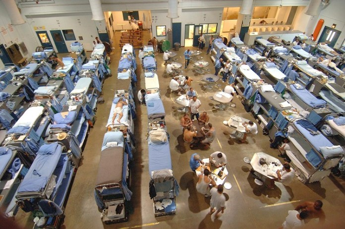 Living facilities in California State Prison (July 19, 2006). Photo: California Department of Corrections