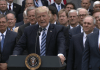 President Trump with Republicans following the House passage of the American Health Care Act. Photo: Wikimedia commons