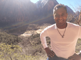 Photo of Dr. Gomez in Zion National Park.