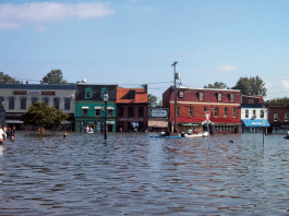 Downtown Annapolis was flooded during Hurricane Isabel in 2003. The combination of rising sea levels and extreme events like hurricanes will mean even more flooding in the future.