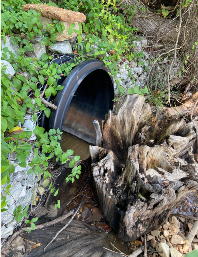 The storm water drain pipe shown here, carrying water from areas south of the base and located on the beach just south of the Locust Grove subdivision, contained 5 separate PFAS totaling 9.5 ppt., including PFOS at a concentration of 4.4 ppt.
