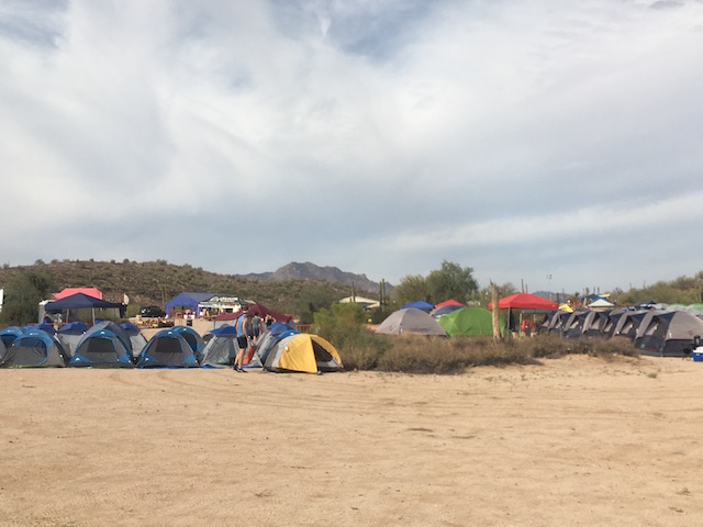 Tent City at Javelina Jeadquarters