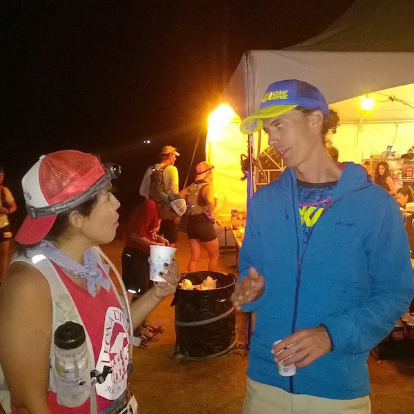 Getting 100 mile race insight, inspiration, and encouragement from Jim Walmsley. I think we're BFF's now.