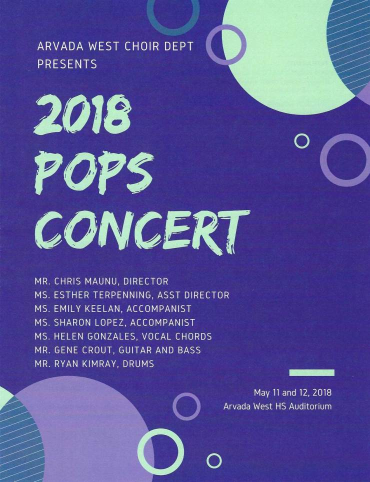 Arvada West High School 2018 Pops Concert Program