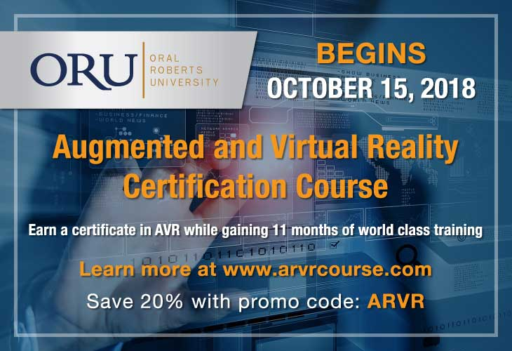 VR Innovation Academy at Oral Roberts University Announces the ORU Augmented and Virtual Reality Course